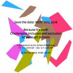 Save the date, November 11./12.2016: Challenging Exclusion 2016!Save the date, November 11./12.2016: Challenging Exclusion 2016!Save the date, November 11./12.2016: Challenging Exclusion 2016!