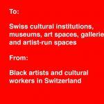 Des mesures antiracistes demandées dans des lieux culturels en Suisse