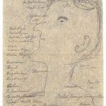 Jakob Adolf Guggenbühl (1880–?), Commis/clerk: «Du bist mir Lieb gewesen», Profilbild, Bleistift auf Papier / (You were Dear to Me), profile portrait, pencil on paper, 29,7 x 19,1 cm, undatiert/undated, Sammlung Herisau, Inv. Nr. 5 verso, KB-029959