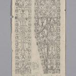 Jakob Adolf Guggenbühl (1880-?), Commis/clerk: Ohne Titel, Ornament, Bleistift auf Papier /untitled, ornament, pencil on paper, 22,9 x 12,6 cm, undatiert/undated, Sammlung Herisau, Inv. Nr. 3