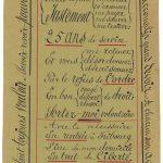 Gaspard Corpataux, keine weiteren Angaben/no further information: «Il ne faut pas crier», Tinte auf papier / (You do not have to cry), ink on paper, 20,6 x 12,4 cm, 1906, Collection de l'Art Brut (ohne Inv. Nr./no inv. no.), Lausanne, Foto: Amélie Blanc