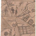 Pierre-Maurice B., keine weiteren Angaben/no further information: Ohne Titel, Bleistift auf Karton / untitled, pencil on cardboard, 25,5 x 22 cm, undatiert/undated, um/around 1902-1912, Archives du Centre de soins hospitaliers, Collection de Marsens, Fribourg (ohne Inv. Nr.), Foto: Marie Humair
