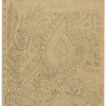 Jean Schildknecht, (1859–1909), Sticker/embroiderer («Brodeur»): «Brodeur», Stickereientwurf, Bleistift auf gefaltetem Blatt Papier / (Embroiderer), design for embroidery work, pencil on paper, folded sheet, 24 x 28,5 cm, recto und/and verso bearbeitet/worked on, undatiert/undated, Sammlung Wil, StASG A 541/1.2.6055