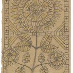Konrad B. (1873–1949), Knecht/farmhand: Ohne Titel, Blumenmotiv, Bleistift auf Packpapier / untitled, floral motif on packaging paper, 16,4 x 10,9 cm, undatiert/undated, Sammlung Münsterlingen, Inv. Nr. 6, StATG 9'10, 5.4/1932