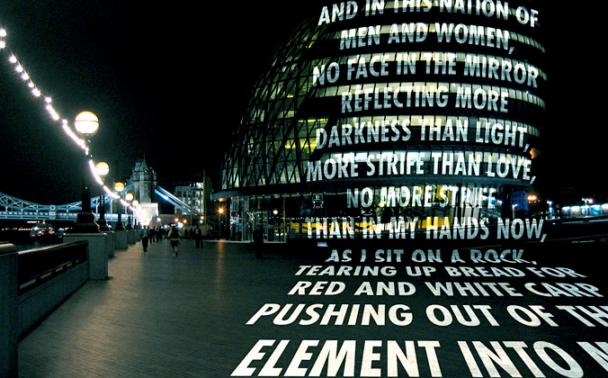 Jenny Holzer in London, 2006