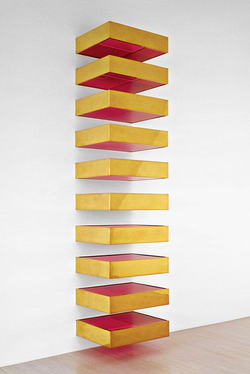 Donald judd farbe und licht im kontext for Minimal art 1970