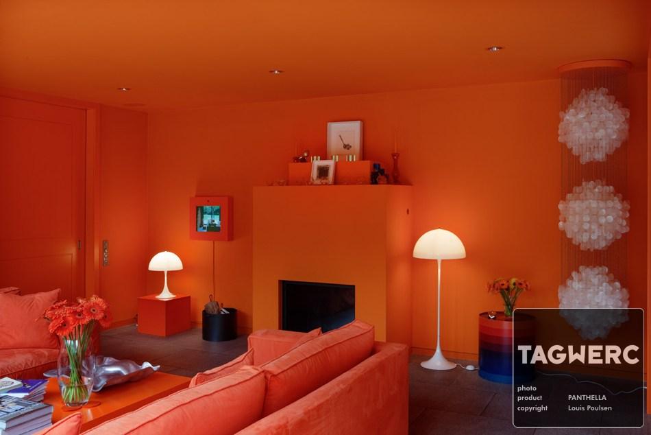 Panthella Stehleuchte Stehlampe Floor Lamp Light Weiss