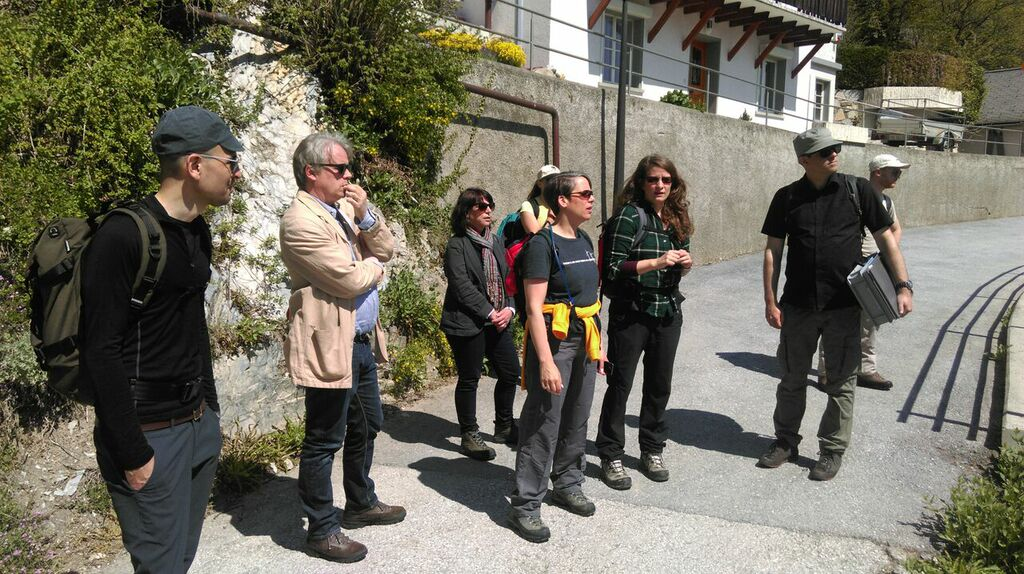 From left to right: Ken Gubler, Student ZHdK; Michael Eidenbenz, Director Music Department; Stephanie Forman Morimura, Cultural Attaché US Embassy; Suzan G. LeVine, US Ambassador; Linda Feichtinger, Biologist WSL; Marcus Maeder, ICST