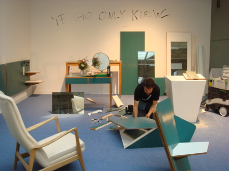 Martino Gamper, If Gio Only Knew, performance at Design Basel/Miami, 2007