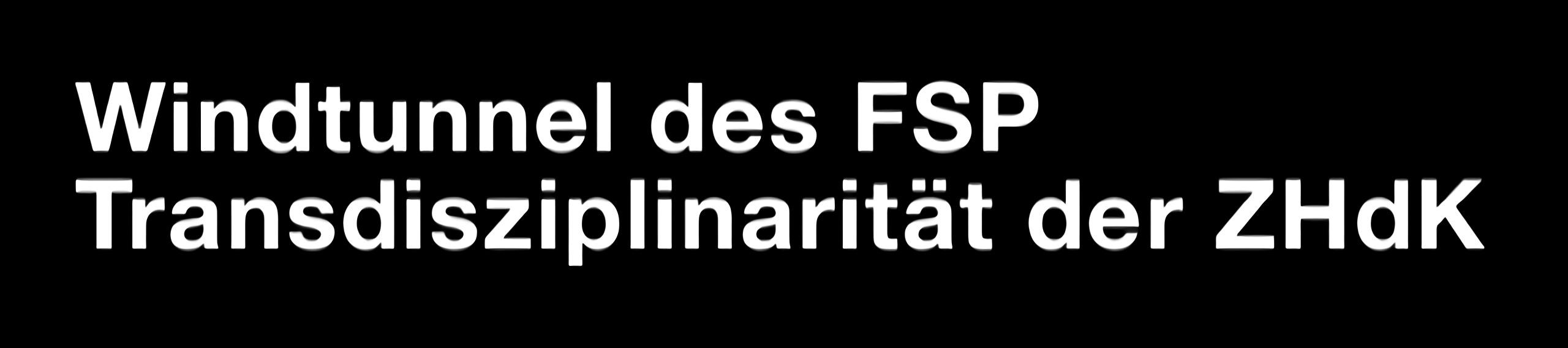 Windkanal des FSP Transdisziplinarität der ZHdK